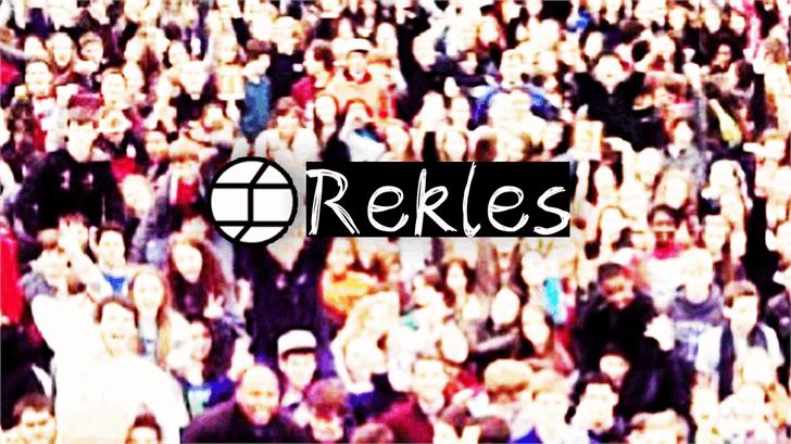 Image for Rekles font