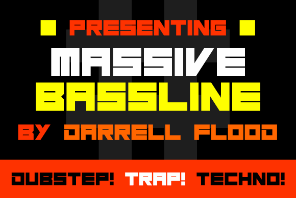Image for Massive Bassline font