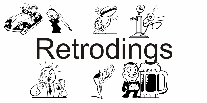 Retrodings font by Intellecta Design