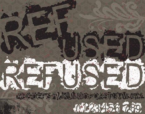 Image for VTKS REFUSED font