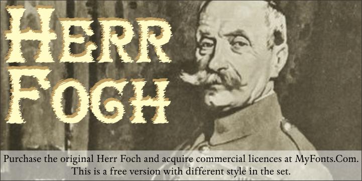 Image for HerrFoch font