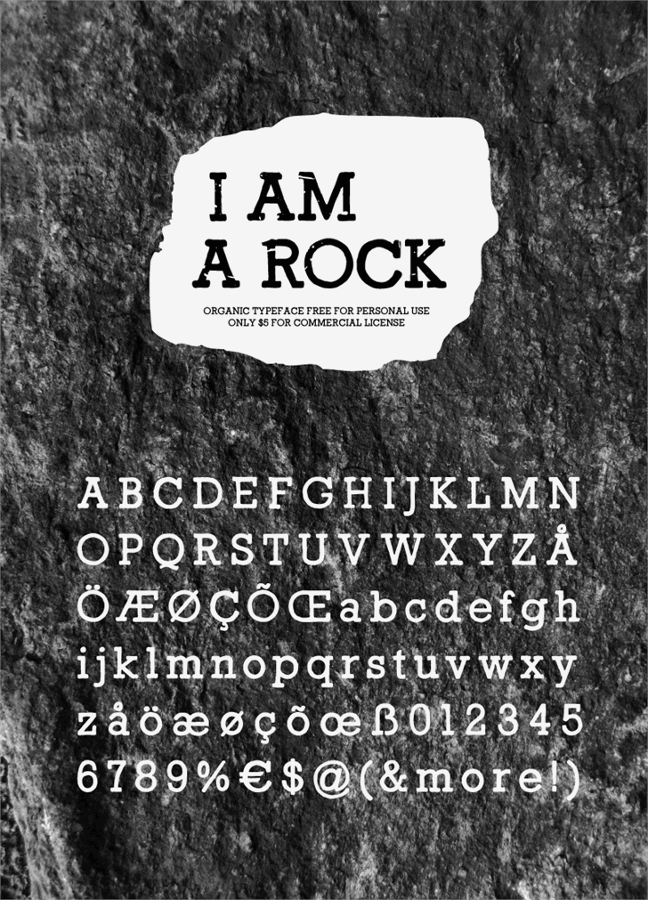 I Am a Rock font by HENRIavecunK