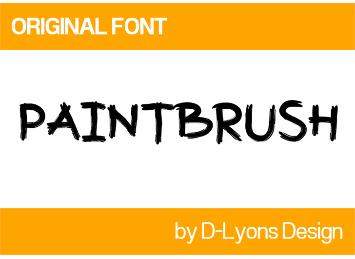 Image for Paintbrush font