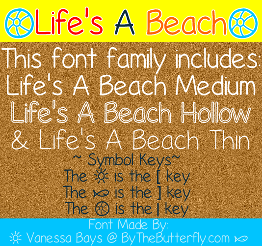 Image for Life's A Beach font