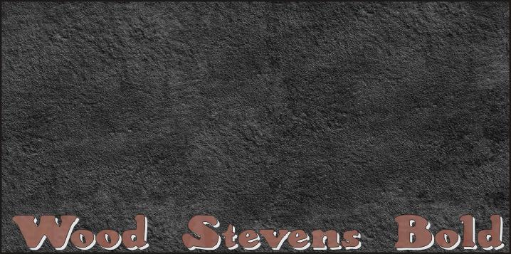 Image for Wood Stevens Bold font