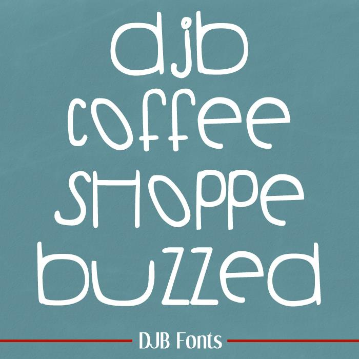 Image for DJB COFFEE SHOPPE BUZZED font