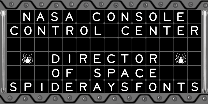 NASA CONSOLE font by SpideRaYsfoNtS