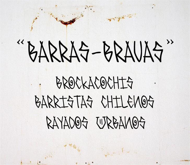 Image for BARRAS-BRAVAS font