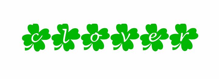 Image for clover font