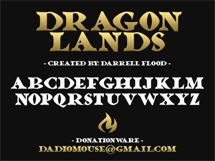 Dragonlands font by Darrell Flood