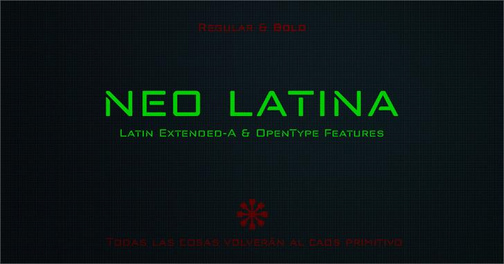 Image for neo latina font