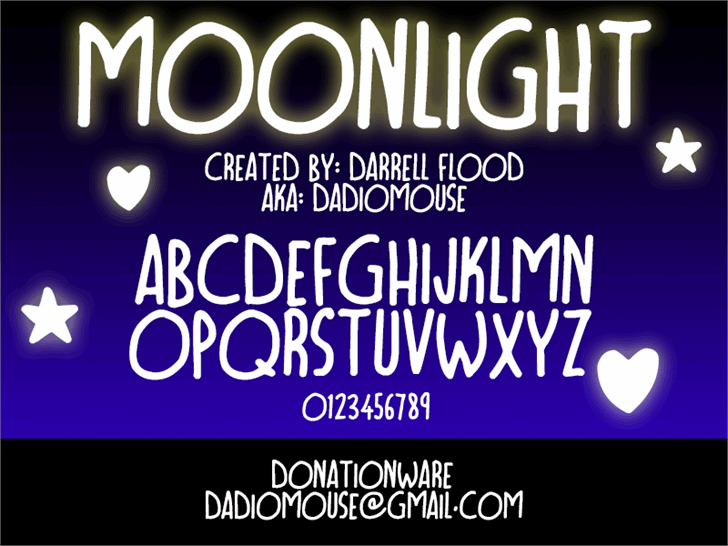 Image for Moonlight font