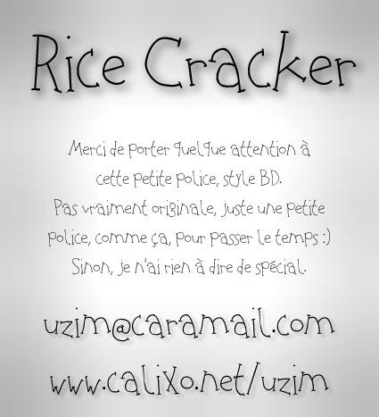 Image for Rice Cracker font