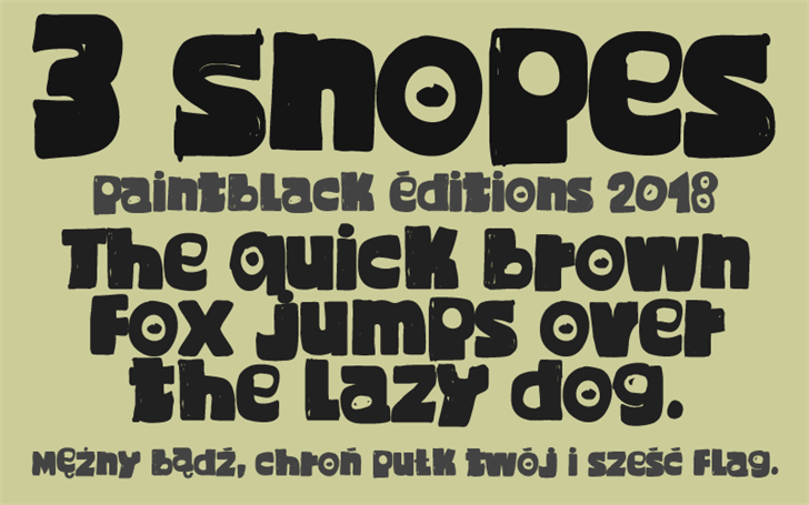 3 Snopes font by paintblack éditions