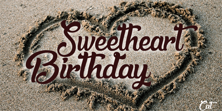 Image for Sweetheart Birthday font