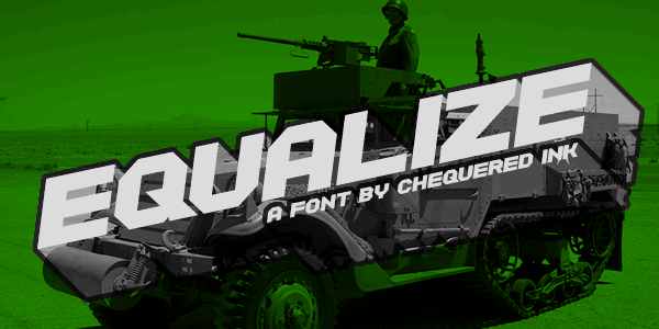 Equalize font by Chequered Ink