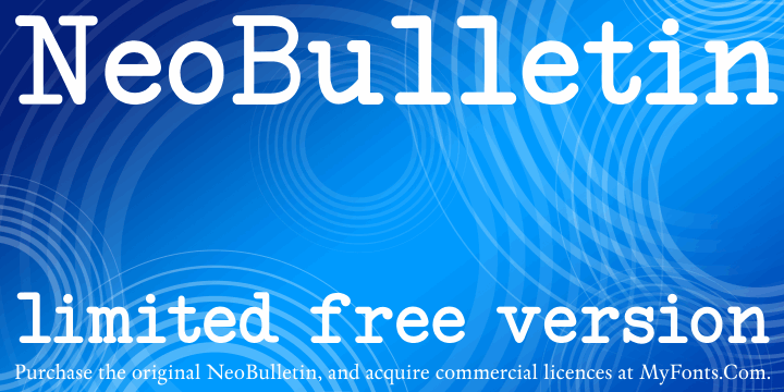 Image for NeoBulletin Limited Free Versio font