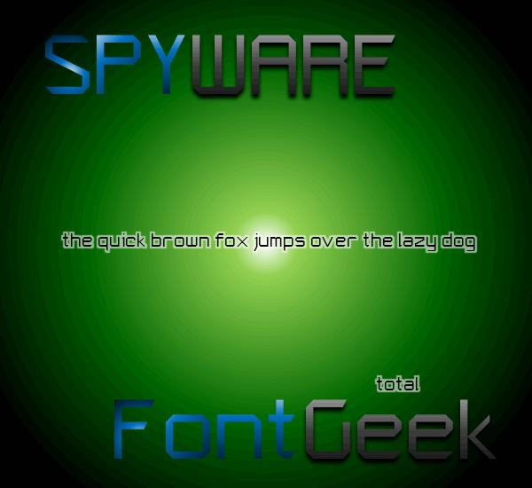 Spyware NBP font by total FontGeek DTF, Ltd.