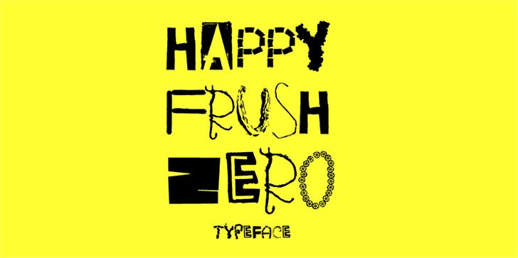 Image for HappyFrushZero font