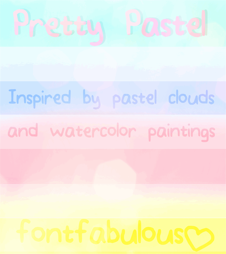 Image for Pretty_Pastel font