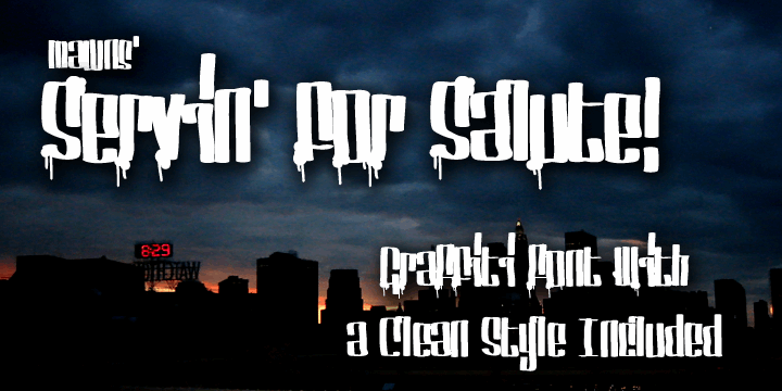 Servin' For Salute font by Måns Grebäck