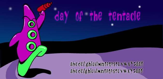 Image for Day Of The Tentacle font