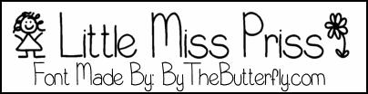 LittleMissPriss font by ByTheButterfly