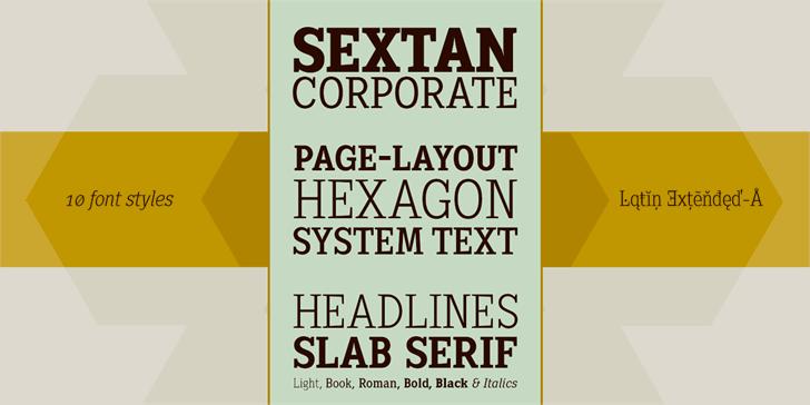 Sextan Roman Font By DeFharo Download