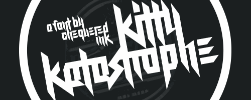 Kitty Katastrophe font by Chequered Ink