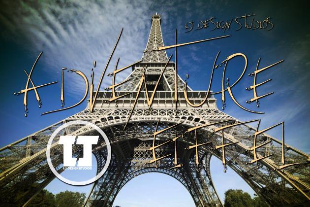adventure Eiffel font by LJ Design Studios