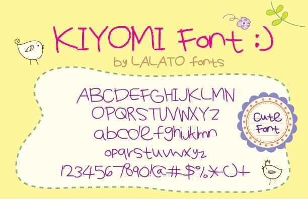 KiyomiFont by LALATO FONTS