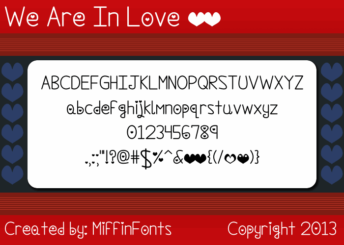 Image for We Are In Love font