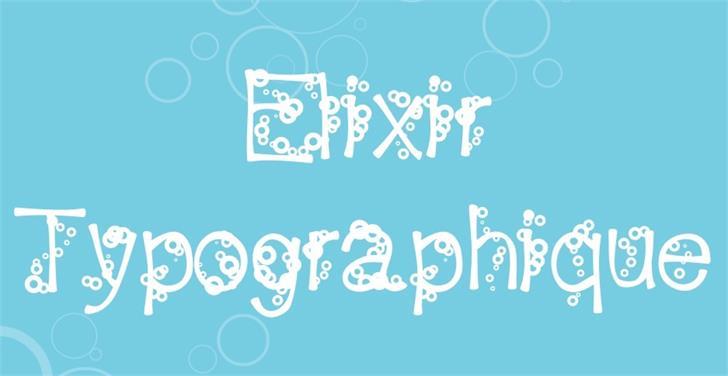 Image for ElixirTypographique font