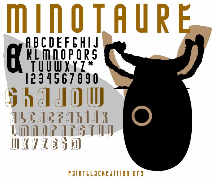 MINOTAURE font by paintblack éditions