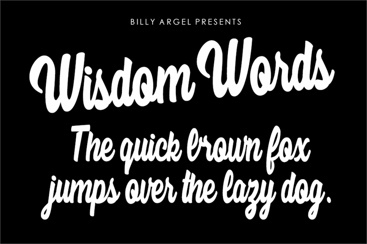 Wisdom Words Personal Use font by Billy Argel