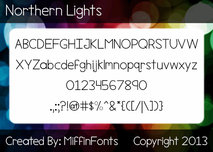 Image for Northern Lights font