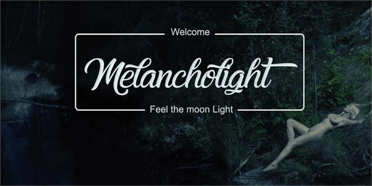 Image for Melancholight font