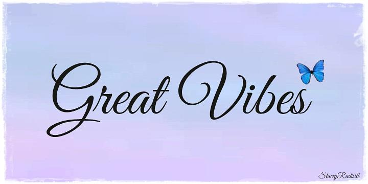 Image for Great Vibes font