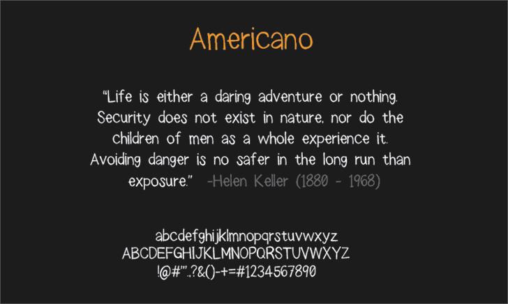 americano font by LALATO FONTS