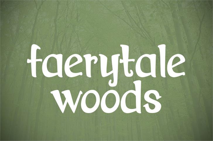 Image for Faerytale Woods font