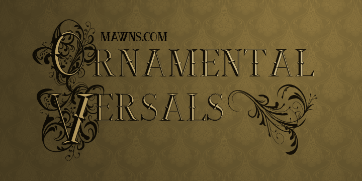 Image for Ornamental Versals font