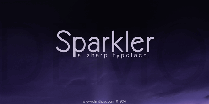 Image for Sparkler-Demo font