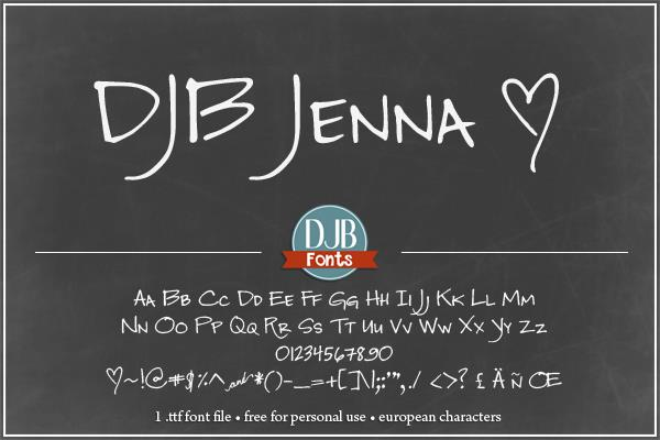 Image for DJB Jenna font