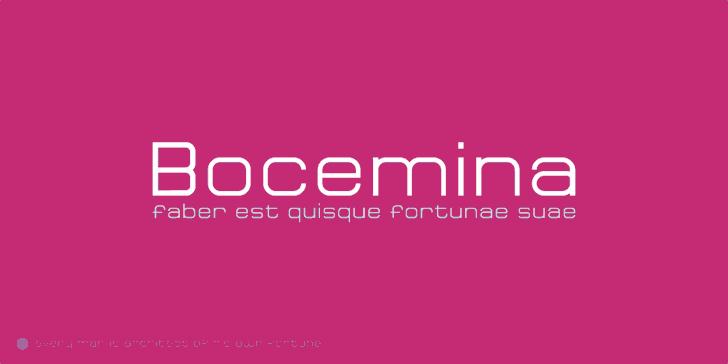 Bocemina font by Erion Dyrmishi