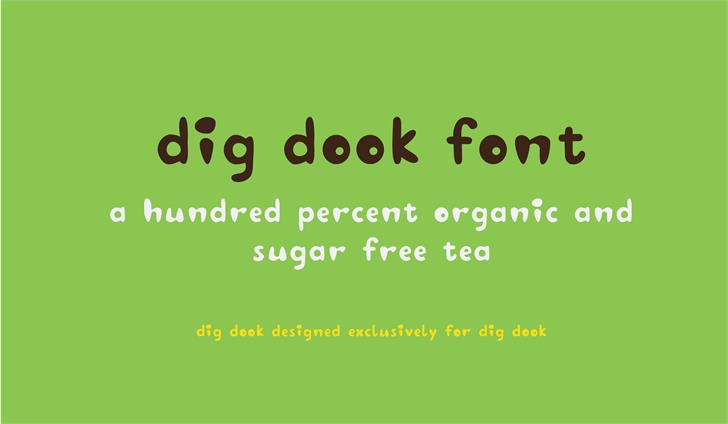 Image for digdook font