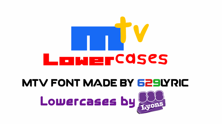 Image for MTV Lowercase 1 font