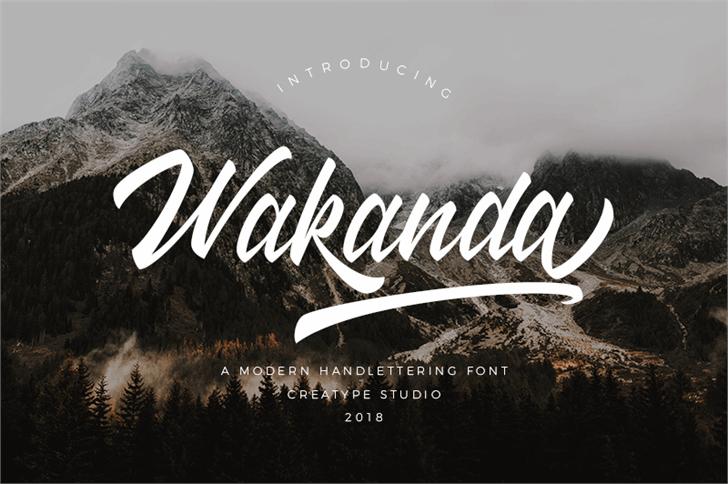 Wakanda font by Creatype Studio