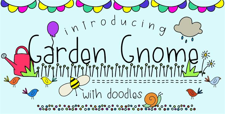 GJ-Garden Gnome Doodles font by GroovyJournal