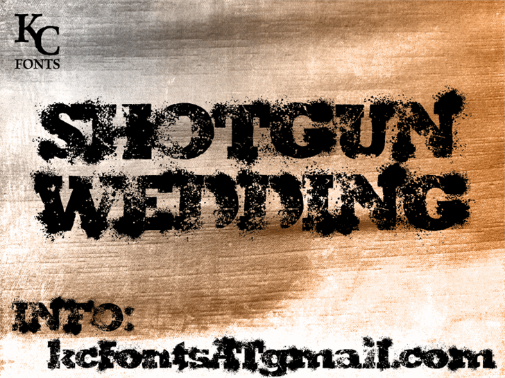 Shotgun Wedding Font By Kc Fonts Fontspace
