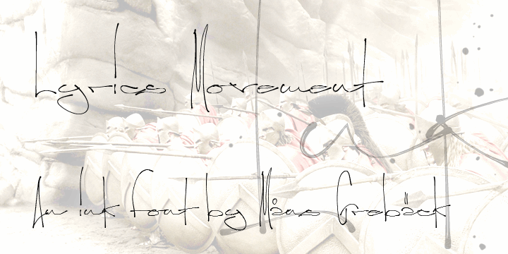 Image for Lyrics Movement font
